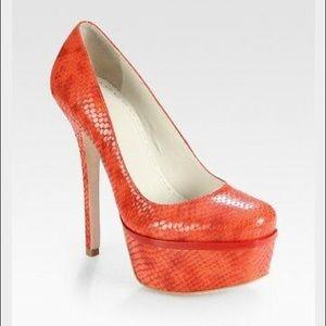 Alice+Olivia Snakeskin Platform Heels